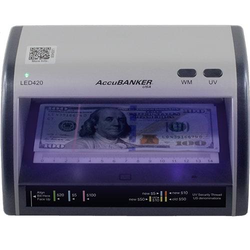 1-AccuBANKER LED420 detector de notas falsas