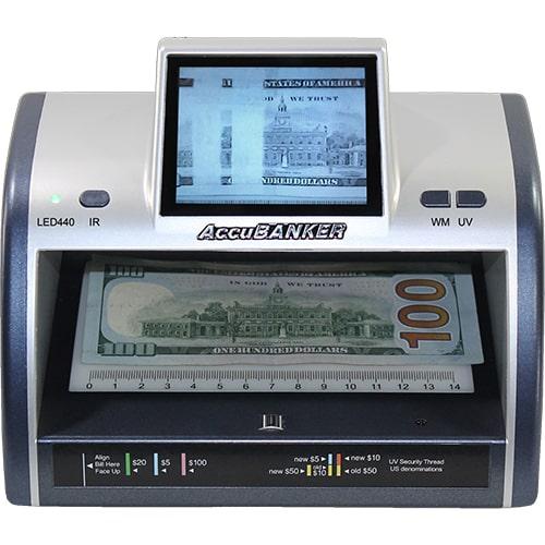 1-AccuBANKER LED440 detector de notas falsas